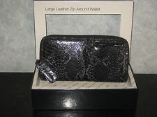 Kenneth Cole New York Large Leather Zip Around Wallet Clutch NIB Christmas