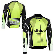 Didoo New Casual Men's Team Cycling Long Sleeve Top Jersey Thermal Jacket MTB