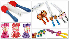Skipping Rope Children Kids Animal Design Wooden Handles Chinese Ropes Jumprope