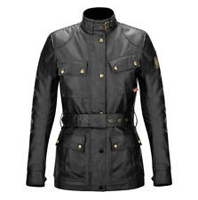 Belstaff Lady Ladies Classic Tourist Trophy Trialmaster Wax Cotton Jacket -Black