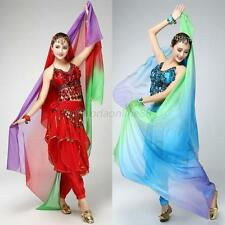 Beauty Women Gradient Veil Shawl Belly Dance Imitated Silk Smooth Scarf HOT  E82