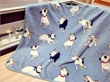 Baby Children Coral Velvet Blanket Nursery Flannel Bull Terrier Cartoon Soft