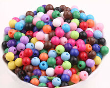 50/100pcs Mixed Colors Acrylic Round Loose Spacer Beads Charms Jewelry DIY 6mm
