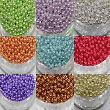 100Pcs Wholesale Multicolor Glass Pearl Charm Round Loose Beads DIY 4mm 6mm 8mm