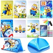 """for Samsung GALAXY Tab E 9.6"""" T560/T561  PU leather case cartoon minions stand"""