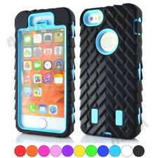 New Rugged Tyre Tread Soft Rubber Hard PC High Impact Combo Case Skin for iPhone