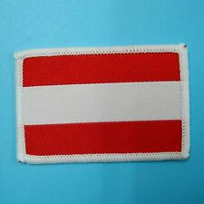 Austria Flag Iron on Sew Patch Applique Badge Embroidered Applique Motif Nation