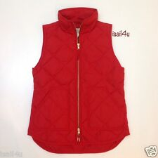 J. Crew Factory Excursion Quilted Puffer Vest Color: Dark Poppy NWT XXS-XXL