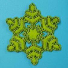 Snow Flake Winter Xmas Iron Sew on Patch Applique Badge Embroidered Christmas