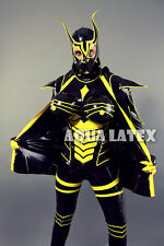 Sexy Latex Full Catsuit Rubber Latex Costume Cosplay and Cannonball Boobies Cape