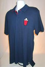 Mens new Ecko Unltd Polo shirt size large Red Cup beer pong blue nwt