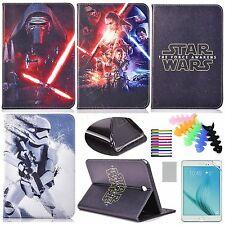for Samsung Galaxy Tab A 8.0 T350 smart stand  leather case cartoon star wars
