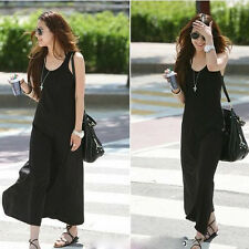 Spring Summer Womens Slim Long Skirt Casual Sleeveless Maxi Dress Party Dresses