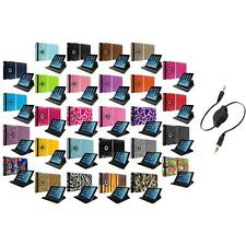 For Apple iPad Air 5 5th Gen 360 Rotating Case Cover Pouch+Aux Cable Accessory