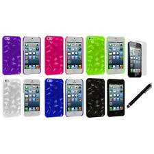 Abstract Polygon 3D Diamond Case Cover+LCD Film+Stylus for iPhone 5 5S