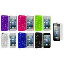 Abstract Polygon 3D Diamond Case Cover+3X LCD Protector for iPhone 5 5S