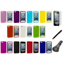 Hard Snap-On Rubberized Case Cover Accessory+LCD+Charger+Pen for iPhone 5 5S