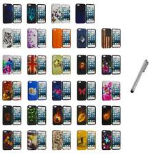 For iPhone 5S 5 5G Hard Snap-On Design Rubberized Case Cover Skin+Metal Pen