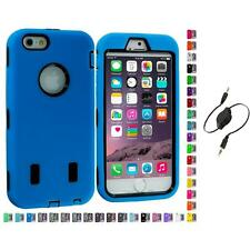 For Apple iPhone 6 (4.7) Hybrid Armor Case Cover LCD Accessories Aux Cable