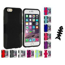 For Apple iPhone 6 (4.7) Hybrid Mesh Case Cover Accessory Cable Wrap