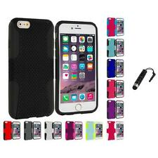 For Apple iPhone 6 (4.7) Hybrid Mesh Case Cover Accessory Stylus Plug