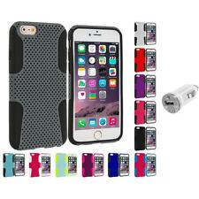 For Apple iPhone 6 Plus (5.5) Hybrid Mesh Shockproof Case Cover USB Charger