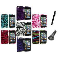 Zebra Design Hard Case Cover Accessory+Charger+Pen for iPod Touch 4th Gen 4G 4