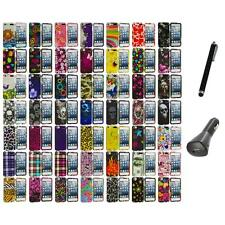 Design Hard Snap-On Rubberized Case Cover+Charger+Pen for iPod Touch 5th Gen 5G