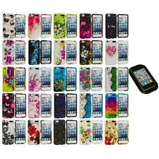 Flower Design Hard Rubberized Case Cover+Sticky Pad for iPod Touch 5th Gen 5G