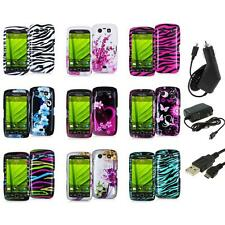 Design Hard Case Cover Accessory+3X Chargers for Blackberry Torch 9850 9860