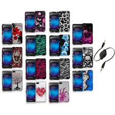 Design Hard Snap-On Rubberized Case Cover+Aux Cable for Blackberry Z10 Phone
