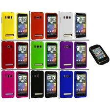 Color Hard Snap-On Rubberized Case Cover+Sticky Pad for HTC Sprint EVO 4G