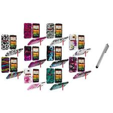 Design Hard Snap-On Case Cover Accessory+Metal Pen for HTC EVO 4G LTE Sprint