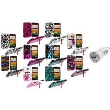 Design Hard Snap-On Case Cover Accessory+USB Charger for HTC EVO 4G LTE Sprint