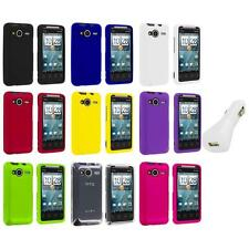 Color Hard Snap-On Case Cover+White Charger for HTC EVO Shift 4G Phone Accessory