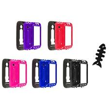 Hybrid Rugged Hard/Soft Case Cover Stand+Cable Wrap for Huawei Ascend 2 II M865