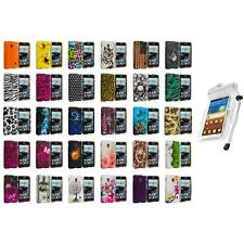 For LG Optimus F6 Hard Design Snap-On Rubberized Skin Case Cover Waterproof Bag