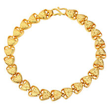 18K Gold Plated Heart Chain Bracelets Platinum Plated Valentine Jewelry Gifts