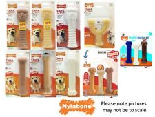 Nylabone Dura Chew Tough Strong Dog Bone Toys Chicken, Bacon  original Flavours