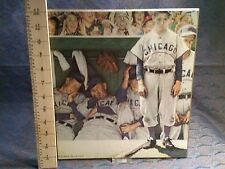 "Norman Rockwell. Chicago Cubs Baseball PRINT.  The Dugout.  12"" x 11"" Hanging"