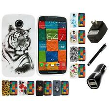 For Motorola Moto X 2nd Gen TPU Design Case Cover Accessory Charger+Stylus