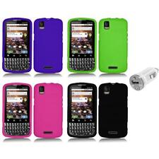 Silicone Rubber Color Gel Skin Case Cover+USB Charger for Motorola XPRT MB612