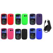 Color Silicone Rubber Gel Case Cover+Charger for Pantech Link II 2 P5000
