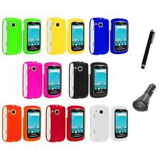 Color Hard Snap-On Skin Case Cover+Charger+Pen for Samsung Doubletime I857 Phone