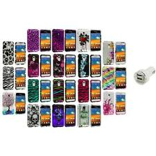 Design Hard Case Cover+Dual Charger for Samsung Epic Touch 4G Sprint Galaxy S2