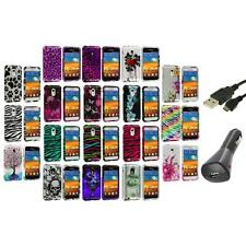 Design Hard Case Cover+Charger+USB for Samsung Epic Touch 4G Sprint Galaxy S2