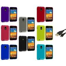 TPU Plain Case Cover+USB Cable for Samsung Sprint Galaxy S2 S II Epic Touch 4G