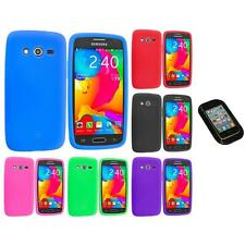 For Samsung Galaxy Avant G386 Silicone Rubber Case Cover Sticky Pad