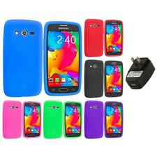 For Samsung Galaxy Avant G386 Silicone Rubber Case Cover Wall Charger
