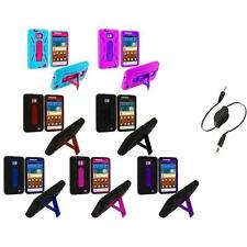 Hybrid Case Cover Stand+Aux Cable for Samsung Attain Galaxy S2 II i9100